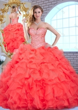 Pretty Sweetheart Quinceanera Dresses with Beading and Ruffles