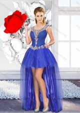 2016 Exclusive High Low New Style Prom Dresses with Beading for Graduation