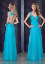 2016 Simple Empire Straps  Beaded and Applique Cheap Prom Dress in Teal