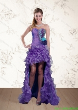 Best Strapless Multi Color Prom Dress with Beading and Hand Made Flower