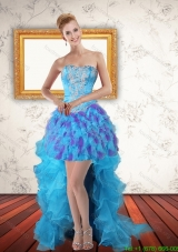 Best Sweetheart High Low Ruffles Prom Dresses in Multi Color