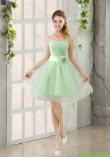 Cheap A Line Sweetheart Lace Up Prom Dress in Apple Green