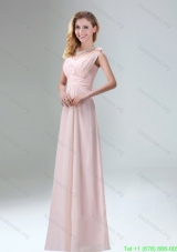 Elegant Chiffon Bridesmaid Dresses in Light Pink for 2015