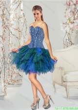 Plus Size Beading Multi-color Short Prom Dresses