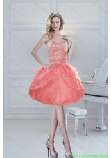 Plus Size Puffy Sweetheart Watermelon Prom Dresses with Beading