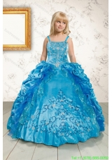 Pretty Ruffles and Pick Ups Girls Party Dresses in Blue