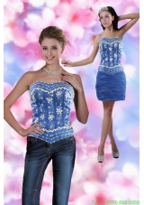 Detachable Sweetheart 2015 Mini Length Prom Dress with Appliques