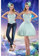 Detachable Sweetheart Beading 2015 Prom Dress in Apple Green