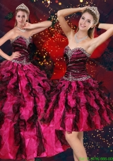 Beautiful Multi Color Sweetheart Quinceanera Dresses with Beading and Ruffles