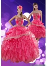 Beautiful Strapless Quinceanera Dresses with Ruffles and Appliques