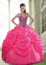 Discount Beading and Hand Made Flowers Quinceanera Dresses for 2015