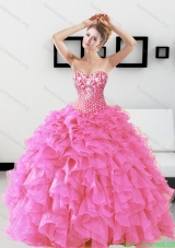 Discount Beading and Ruffles Sweetheart Quinceanera Dresses for 2015
