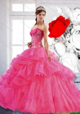 Discount Sweetheart Ball Gown 2015 Quinceanera Dress with Appliques