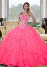 Discount Sweetheart Beading and Ruffles Quinceanera Gown for 2015