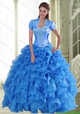 New Style Appliques and Ruffles Sweetheart Quinceanera Dresses for 2015