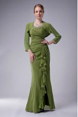 Chiffon Sleeveless Floor Length Mother Of The Bride Dress and Beading