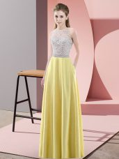 Delicate Sleeveless Beading Backless Evening Outfits