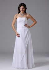 Strapless Custom Made Chiffon Wedding Dress For Cheap