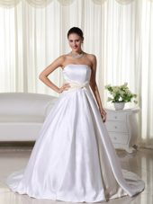 Custom Made Ball Gown Beaded Organza Wedding Dress