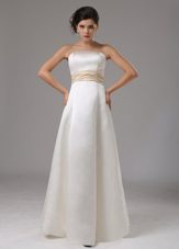 Modest Wedding Dress Sash Strapless and Floor-length