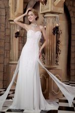Elegant Sweetheart Wedding Dress Empire Sequins Chiffon