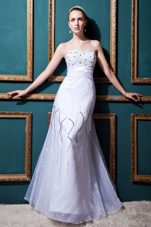 Pretty Column Sweetheart Wedding Gown Tulle Beading