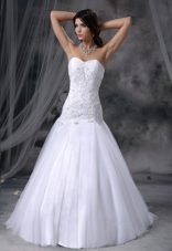 High end Drop Waist Tulle 2013 Wedding Gown