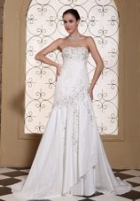 Attractive Beading Taffeta Simple Bridal Gown For 2013