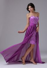 Detachable High-low and Rainestones Over Skirt Prom Dress