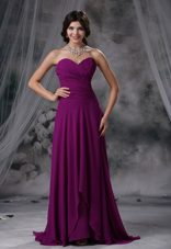 Ruched Purple Sweetheart 2013 Bridesmaid Dresses with Ruches