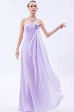 Strapless Chiffon Floral Mother of the Bride Dress in Lilac