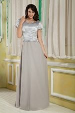 2013 Gray Scoop Long Mother Of The Bride With Ruch