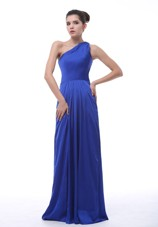 Royal Blue One Shoulder Cheap Prom Dress Taffeta