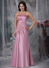Cheap Rose Pink Column 2013 Prom Dress Appliques