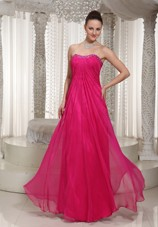 2013 Prom Dress Strapless Cheap Hot Pink Beading
