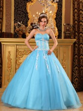 Low Price Light Blue Sweetheart Ball Gown Quinceanera Dress