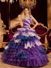 Perfect Dress for Quinceanera in 3 Colors with Many Ruffles