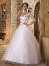 Sweetheart Wedding Dress Floor-length A-line Taffeta Embroidery