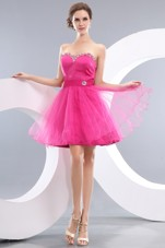 A-line SweetheartProm Graduation Dresses Beading Short