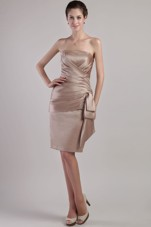 Chocolate Prom Dress Column Knee-length Strapless