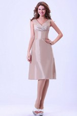 V-neck Dama Homecoming Dress With Knee-length