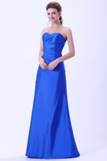 Royal Blue Bridemaid Dress with Sweetheart Neck