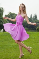 One Shoulder Princess Lavender Ruche Dama Dresses for Quinceanera