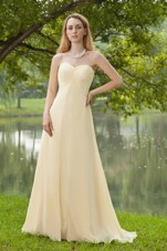 Empire Sweetheart Brush Champagne Ruche Bridesmaid Dresses Chiffon