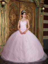 Baby Pink Sweetheart Designer Tulle Quinceanera Dress