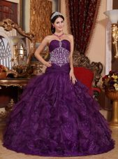 Designer Purple A-line Beading Quinceanera Dress Sweetheart