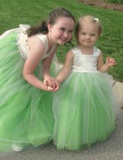 Sumptuous Sleeveless Floor Length Bowknot Lace Up Flower Girl Dress