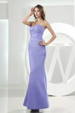 Lilac Ankle-length 2013 Bridesmaid Dress in Mermaid