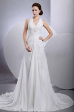 Halter Appliques Wedding Dress Chiffon Buttons Back 2013