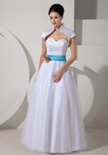 Flowered Sash 2013 Bridal Wedding Dress Sweetheart Taffeta